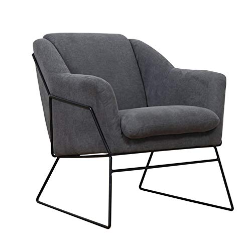 Jtoony Sofá de hierro forjado, silla de ocio, sofá con un cojín integrado, adecuado para restaurante y dormitorio familiar.