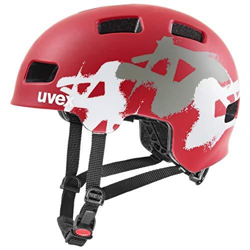 Uvex Unisex Jugend, hlmt 4 cc Fahrradhelm, red mat, 51-55 cm