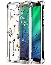 Oihxse Cristal Compatible con Huawei Nova 5/NOVA5 Pro Funda Transparente TPU Silicona Estuche Airbag Esquinas Anti-Choque Anti Rasguños Diseño Rosa Flower Caso (Flores A6)