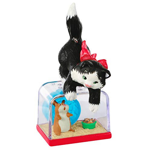Hallmark Keepsake Christmas Ornament 2020, Mischievous Kittens Cat and Hamster