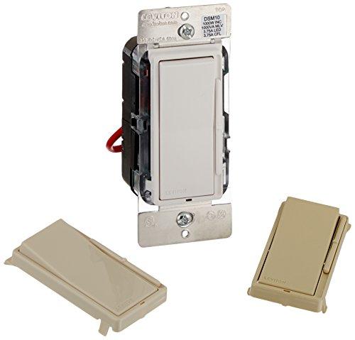 Leviton DSM10-1LZ Decora Universal Dimmer, 450-watt LED and CFL/1000-watt Incandescent/1000VA Magnetic Low Voltage , White