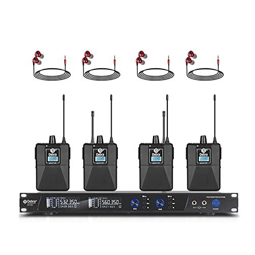 D Debra Audio PRO ER-202 UHF Dual Channel Wireless In Ear Monitor System...