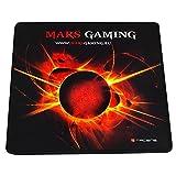 Mars Gaming MMP0 - Alfombrilla de ratón gaming (alta precisión con cualquier ratón, base de caucho natural, alta comodidad, caucho, universal, 20 x 22 cm), color negro y rojo