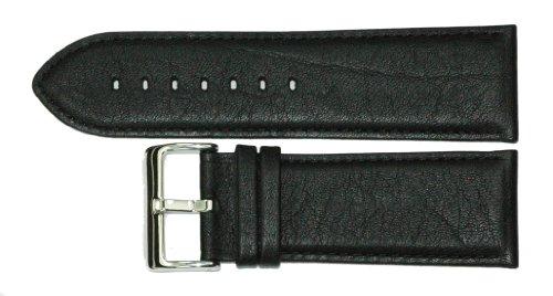 30 mm, Cinturino per orologio da polso in pelle di alta qualità, colore: nero