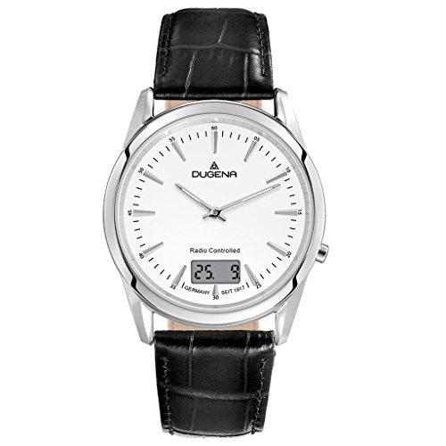 Dugena Herren Digital Uhr mit Leder Armband 4460676.0