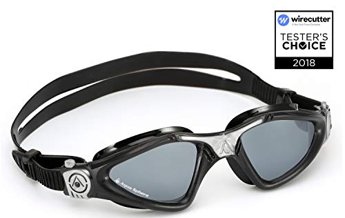 Aqua Sphere Kayenne Swim Goggles with Smoke Lens (Black/Silver)