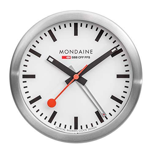 Mondaine Table Clock - Orologio da Tavolo per Soggiorno e Stanza, A997.MCAL.16SBB, 125 MM.