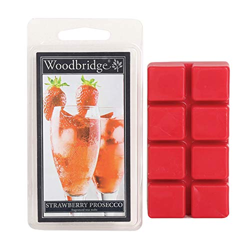 Woodbridge Candle Strawberry Prosecco 68g Duftwachs Wax Melts 8er Pack