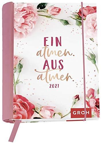 Einatmen. Ausatmen. 2021: Wochenkalender mit 12 Postkarten (Terminplaner für die Handtasche)