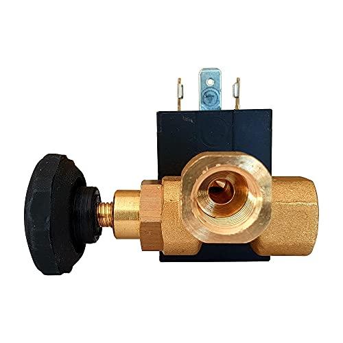 OLAB 7000 zawór magnetyczny 24 V AC 50 Hz 15 VA 1/4 cala do w pełni automatycznych ekspresów do kawy Astoria - Nuova - Wega | zestaw M9A