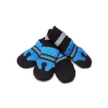 V-Do réfléchissant pour Chien Bottes de Pluie imperméable Neige Chaussons pour Chiens Paw protéger pour l'hiver Chaussures de Chien Facile sur
