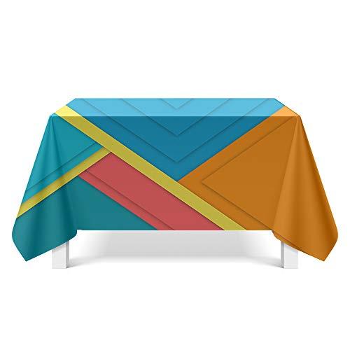 DREAMING-Geometrisches Muster Kunst Tischdecke Home Esstisch Stoff Tv-Schrank Couchtisch Stoff Runde Tisch Tischset 140cm * 200cm