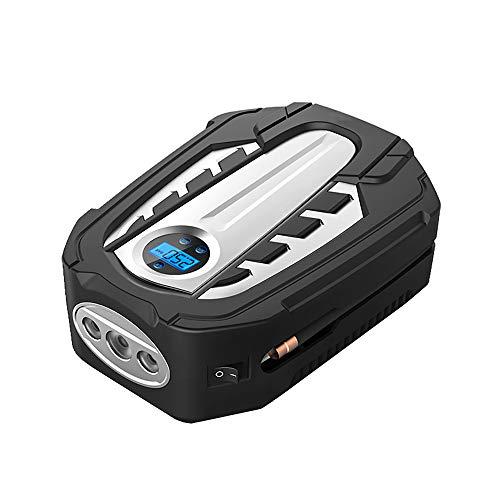 Pompe de batterie, mini-pompe à air de voiture compresseur d'air électrique, pour la moto de voiture vélo inflatables jauge de pression rechargeable, 12V DC s'arrête automatiquement