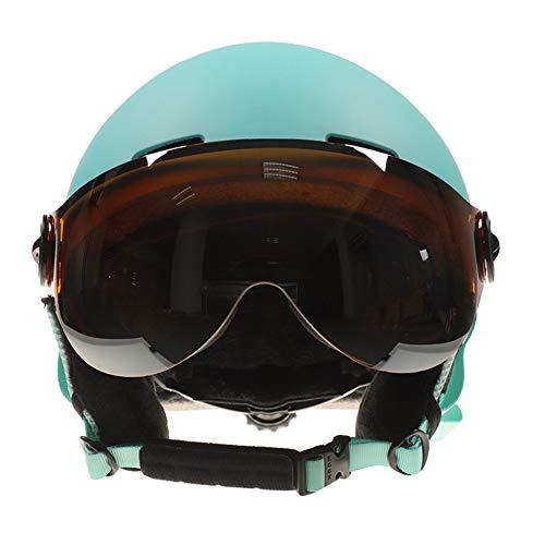 Skihelm veiligheidshelm met bril geïntegreerde mannelijke en vrouwelijke beschermende skihelm beschermende uitrusting