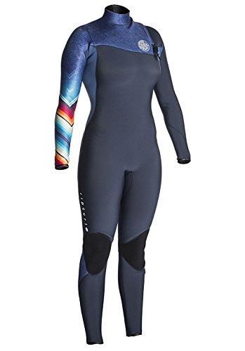 Rip Curl Dames G-Bomb 3/2MM Gbs Zip Free Wetsuit Denim Blauw - Easy Stretch - 3/4 interne E5-tape - Gelijmd en Blindstitched