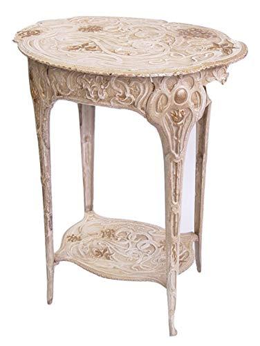 Deko Blumentisch Garten Tisch Beistelltisch 60,5 cm Jugendstil Gußeisen