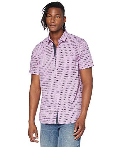 BOSS Magneton_1-Short Camisa, Rosa Oscuro (652), XL para Hom