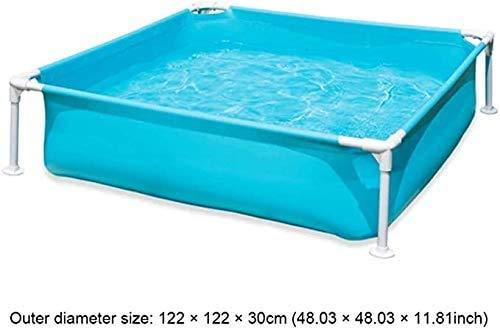 Zomer Draagbaar Opblaasbaar Kinderbad 122 \u0026 tijden; 122 \u0026 tijden; 30cm Frame Zwembad Incl Reparatie Patch Kind Verjaardagscadeau Eenvoudig te monteren en te demonteren