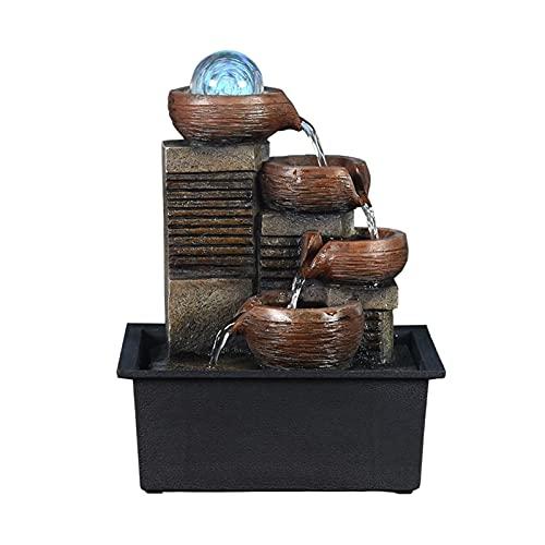 hongbanlemp Home Decoration Water Fountain Fengshui Sfera umidificatore Creativo Ufficio Desktop Accessori for Ufficio