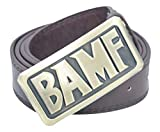 DAZCOS Adjustable Brown Mccree Tan Cosplay Belt with Bronze Buckle (Brown Style1)