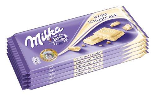 Kraft Foods Deutschland GmbH: Milka - Weisse Schokolade - 1 Packung mit 5 Taf...