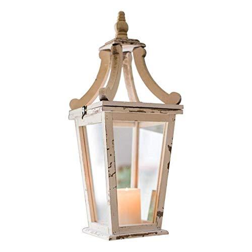 DAGONGREN Candlestick- Francesa Tradicional lámpara de pie Apenada Candelabro Cristal Rebordear Crema Campana de Sombra for la Lectura de la Sala
