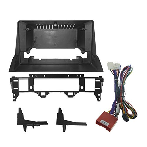 Rumors 10.1 Pulgadas Fascia Double DIN Car Frame De DVD Adaptador De Audio Facia 1 / 2din Panel De Recitación del Panel Dashboard Kit Ajuste para Mazda 6 (Color Name : Black)