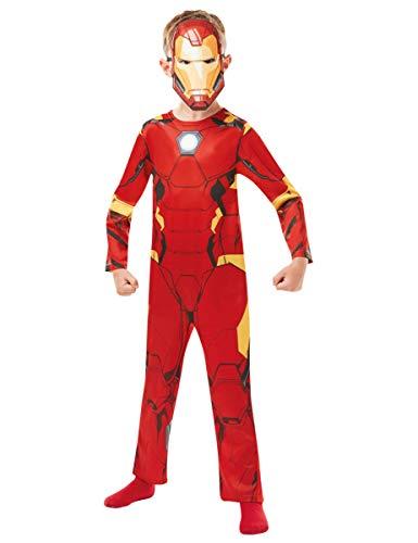Rubie s 640829L Costume ufficiale Marvel Avengers Iron Man Classic bambino, età 7-8 anni, altezza 128 cm, L