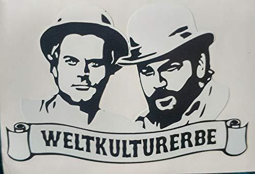 myrockshirt Bud Spencer Weltkulturerbe Portraits 20cm Aufkleber,Sticker,Decal,Autoaufkleber,UV&Waschanlagenfest,Profi-Qualität