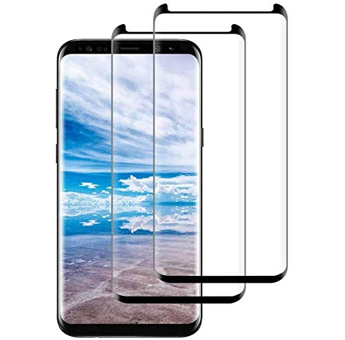 Galaxy S8 Screen Protector [2-Pack], Tempered Glass Screen Protector [Case-Friendly][No Bubbles][Easy to Install][Anti Fingerprint][Full Coverage] Screen Protector Compatible Samsung Galaxy S8