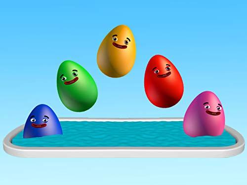 Lernen Sie Farben mit Eiern und einem Pool