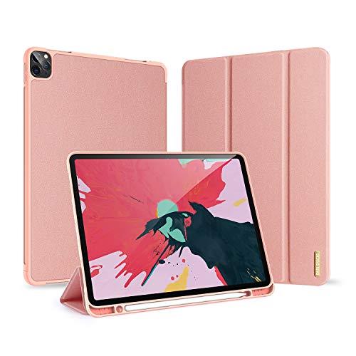 14chvier hoes compatibel met Apple iPad Pro 2020 12.9 inch leren afdekking beschermhoes 360 graden bescherming PU telefoonhoes iPad penhouder slaap/wekker voor iPad Pro 2020
