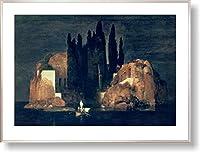 アーノルド・ベックリン *死の島, 1880【ポスター+フレーム】約 81 x 61 cm シルバー(ヘアライン)