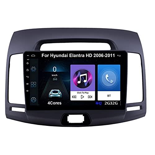 Autoradio Android Car Radio Stereo 9 Pulgadas Pantalla Táctil Para Hyundai Elantra HD 2006-2011 Para De Coche Conecta Y Reproduce Autoradio Mit Bluetooth Freisprecheinrichtung