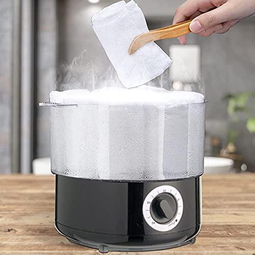 4YANG Vaporizador de toallas de calentamiento rápido, calentador de toallas de spa diurno de uso múltiple para spa, faciales, afeitado, peluquería, equipos de salón y uso doméstico 202 ° F