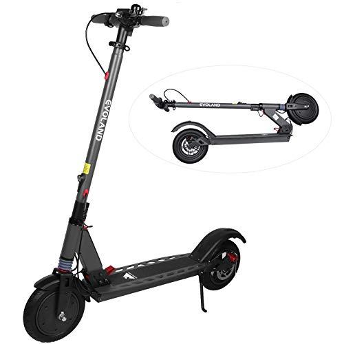 EVOLAND Patinete Eléctrico, Scooter Eléctrico para Adultos con una Velocidad Máxima de 30km/h, Motor Brushless 36V 350W, 3 Modos de Conducción, Diseño Plegable.