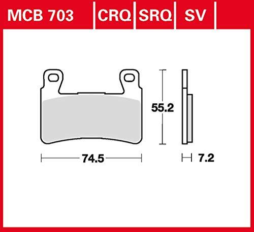 Bremsbelag TRW organischer Allround-Bremsbelag CBR 600 F PC35 01-07 vorne