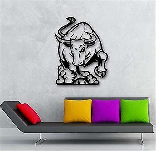 Bluegiants Vinyl Removable Wall Stickers Mural Decal Raging Bull Bullfight Animal Great