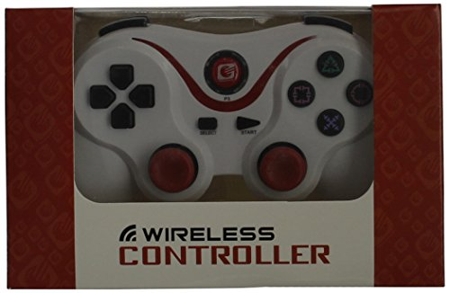 [Upgraded Version]Ultra-comfort White & Red Wireless Bluetooth Ps3 Controller for the Playstation 3 Console By Avalid