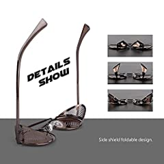 Polarised Sunglasses for Women Men Steampunk Retro Round Unisex Eyewear Glasses UV400,2020 New Trendy Side Shield Goggles Gothic Sun Gasses Brown Frame Brown Lens CGID #2