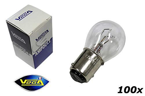VEGA 100 Ampoules P21/5W BAY15D Maxi Halogène 12V