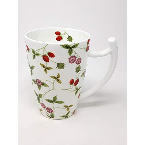 TeaLogic Jumbotasse, Becher Mirella Erdbeeren für 500ml Porzellan weiß rot grün