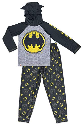 LEGO Batman Boy's 2 Piece Polyester PJ Set, Long Jogger Pants with Long Sleeve Top