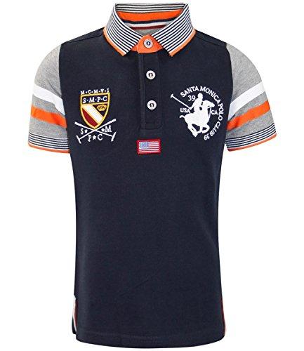 Santa Monica Kids Albany T- Shirt Dark Navy Year 8-9
