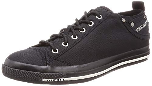 Diesel Herren Magnete Exposure Low I Turnschuh, Schwarz - Pirate Black, 40 EU