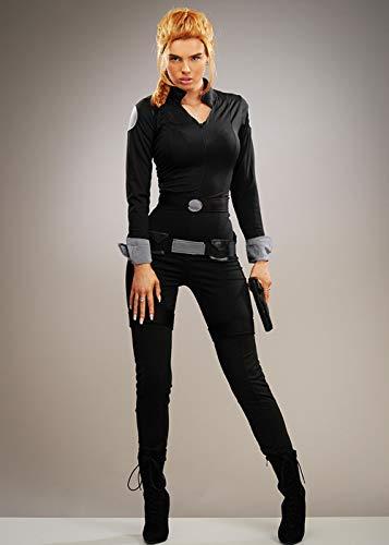 Magic Box Disfraz de espía Estilo Viuda Negra para Mujer Small (UK 8-10)
