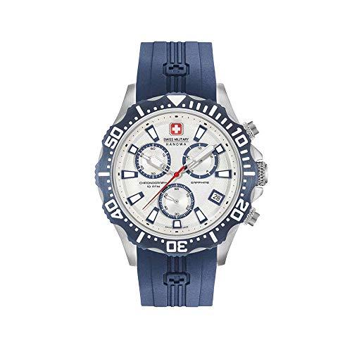 Swiss Military Hanowa Reloj Analógico para Hombre de Cuarzo con Correa en Silicona 06-4305.04.001.03