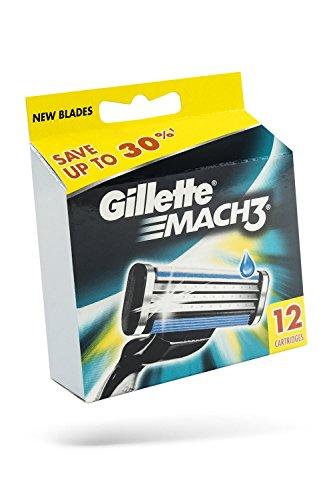Gillette MACH3 Klingen 12 Stück Vorteilspack