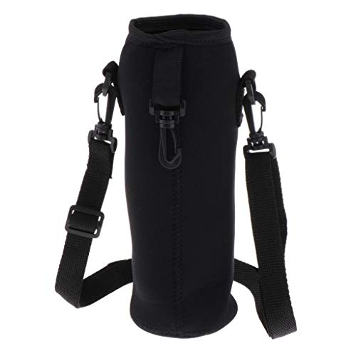 MagiDeal Water Bottle Carrier Insulated Cover Bag Pouch Holder Shoulder Strap