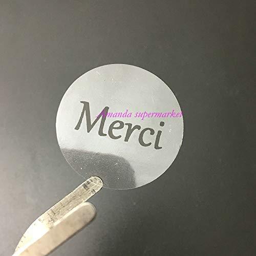 French Merci Thank you Label Transparet Sticker,Seals Gift stickers 100pcs